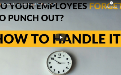 Do Your Employees Forget to Punch Out?